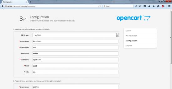 opencart db